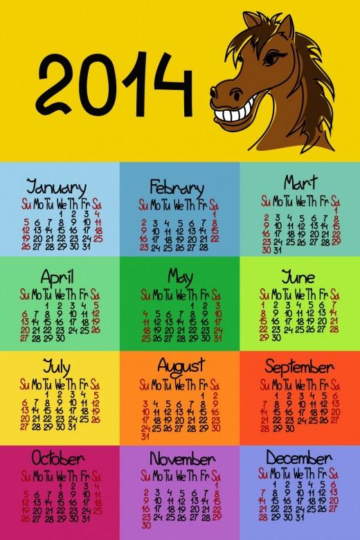 FREE 2014 Calendar Large Size 8