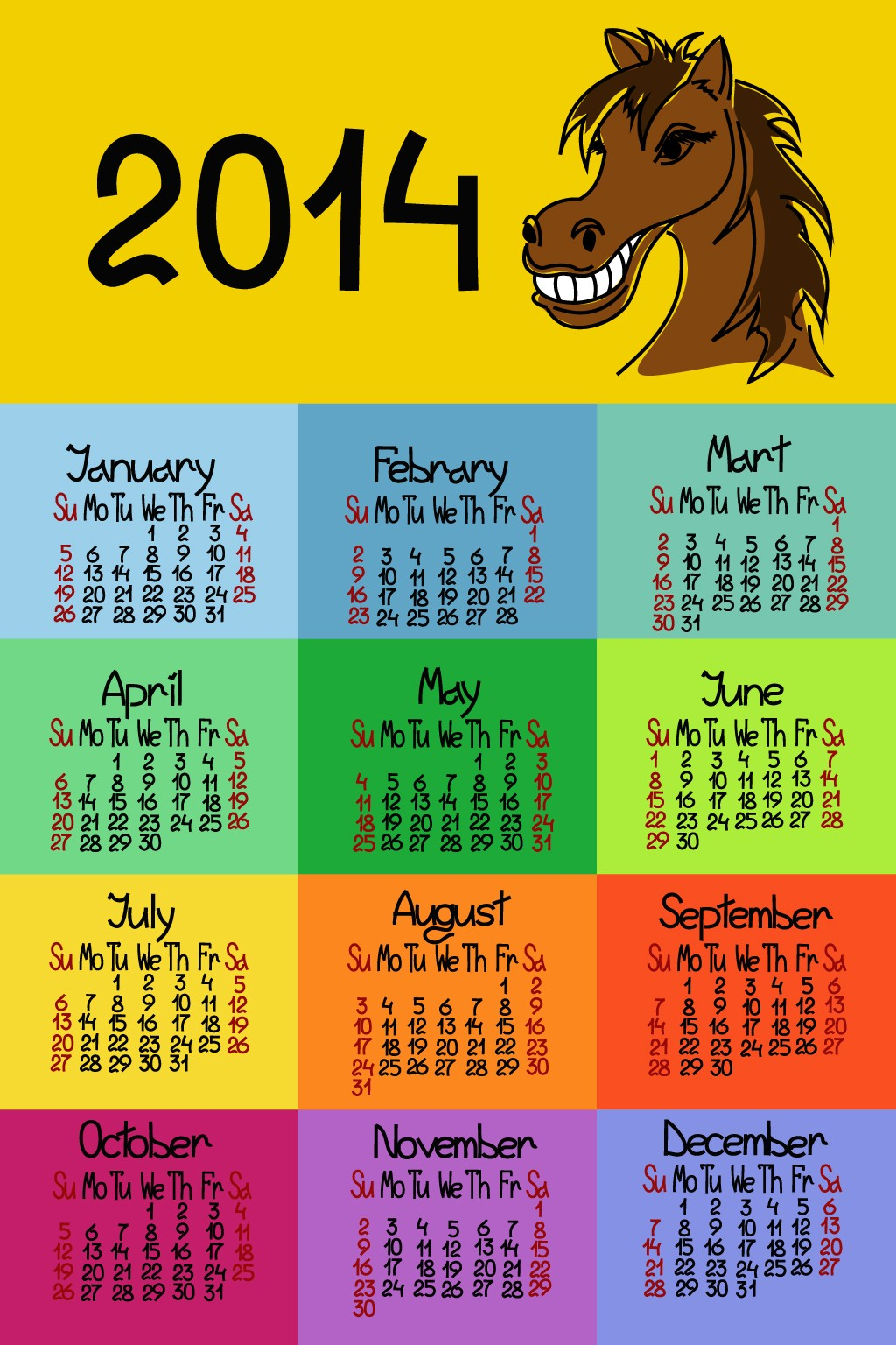 Author: zcool.  License: Non commercial use, learning and reference use only.  Download Calendar 2014 30(297).