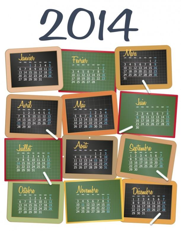 FREE 2014 Calendar Large Size 9