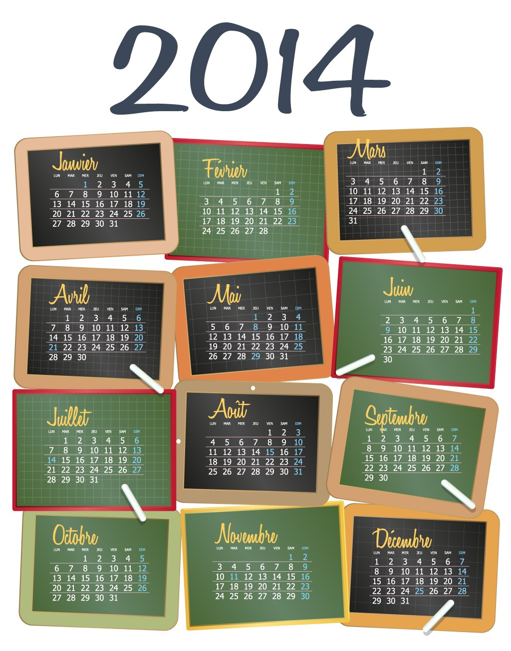 """thoughts on """" 10 FREE """"2014 Calendar"""" Large Size """""""