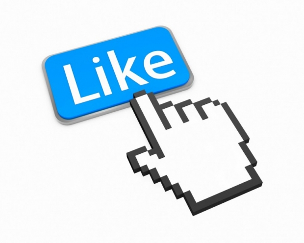 Facebook Like with Hand Mouse