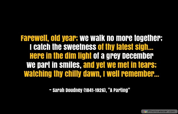 Sarah Doudney, December Quotes, Sayings About December, Quotes Images