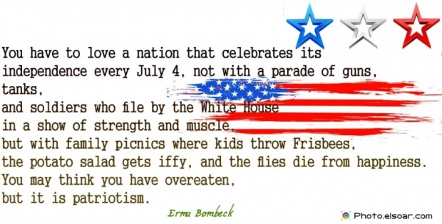 Fourth Of July Quote By Erma Bombeck