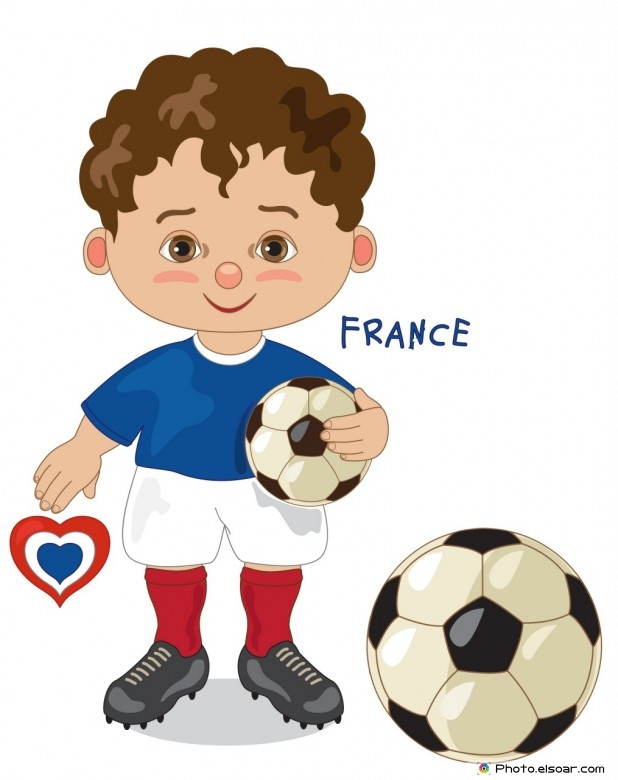 France National Jersey, Cartoon Soccer Player