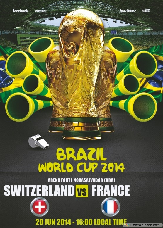 France vs Switzerland - World Cup 2014 - 20 Jun 2014 - 16:00 Local time - Group E - Arena Fonte Nova - Salvador
