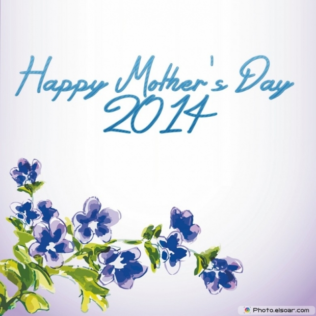 Free 2014 Mothers Day Flowers Card On a gray background