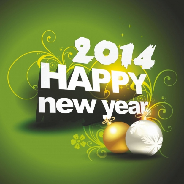 Free Happy New Year 2014 Background Picture 1