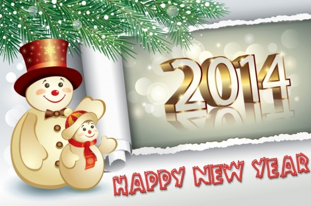 Free Happy New Year 2014 Background Picture 11