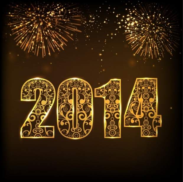 Free Happy New Year 2014 Background Picture 2