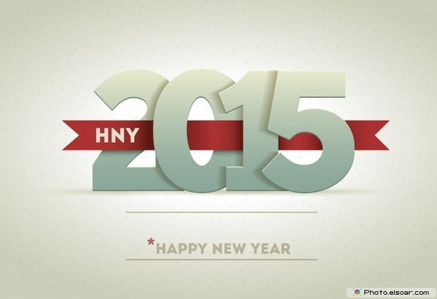 Free Image 2015 Happy New Year With Shadow