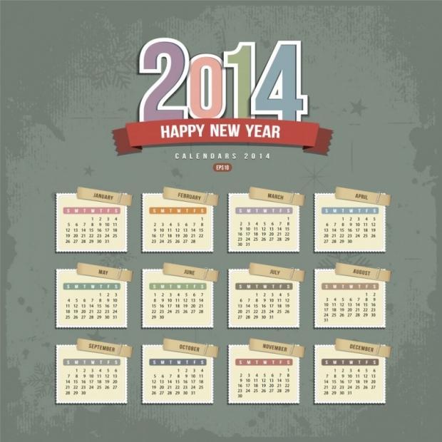 Free Printable 2014 Calendar Amazingly 13