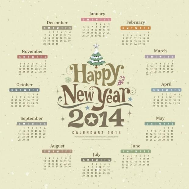 Free Printable 2014 Calendar Amazingly 14