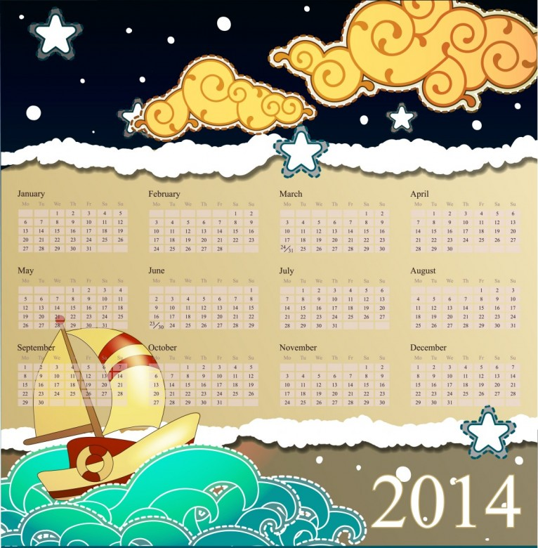 Free Printable 2014 Calendar Amazingly 16