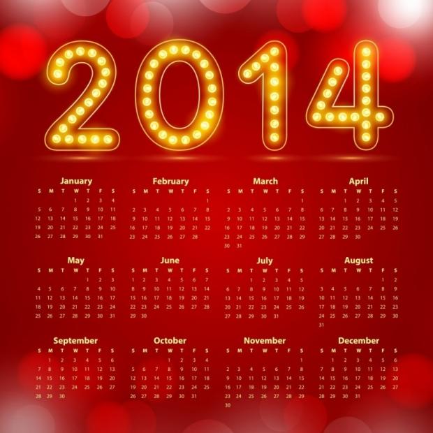 Free Printable 2014 Calendar Amazingly 23