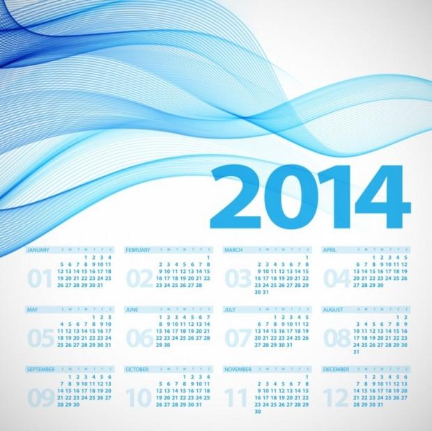 Free Printable 2014 Calendar Amazingly 25