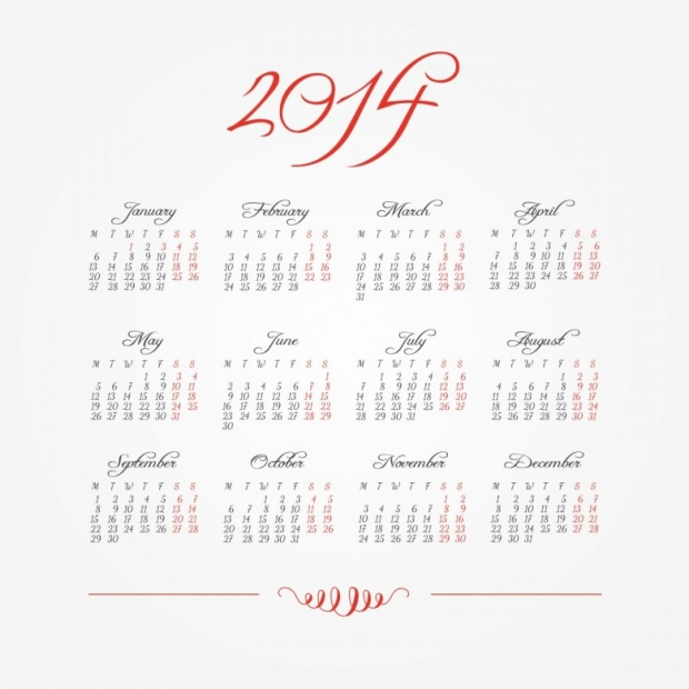 Free Printable 2014 Calendar Amazingly 3