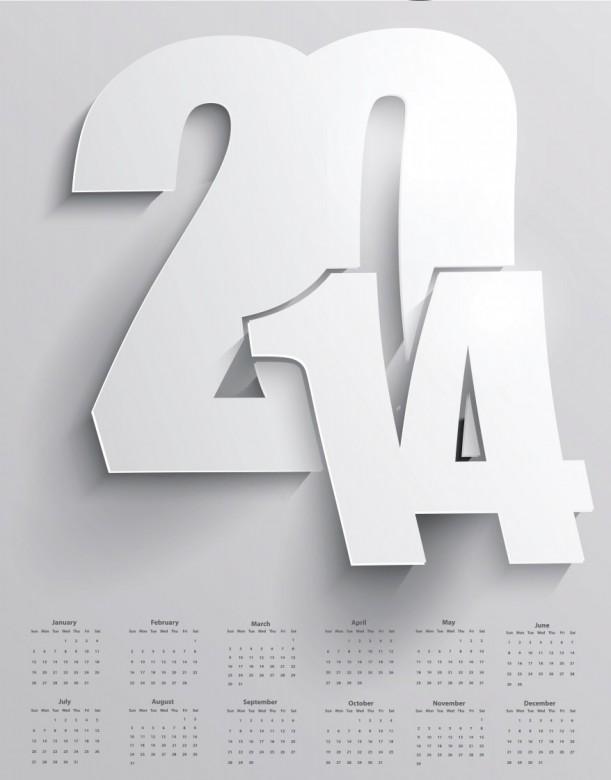 Free Printable 2014 Calendar Amazingly 4