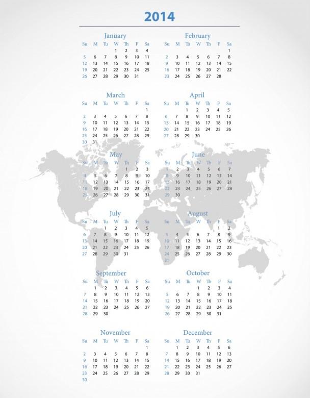 Free Printable 2014 Calendar Amazingly 5
