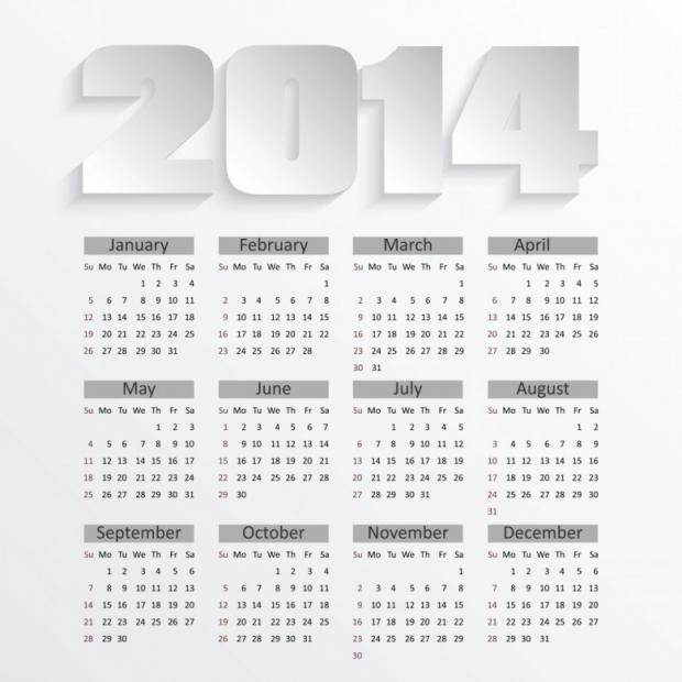 Free Printable 2014 Calendar Amazingly 6