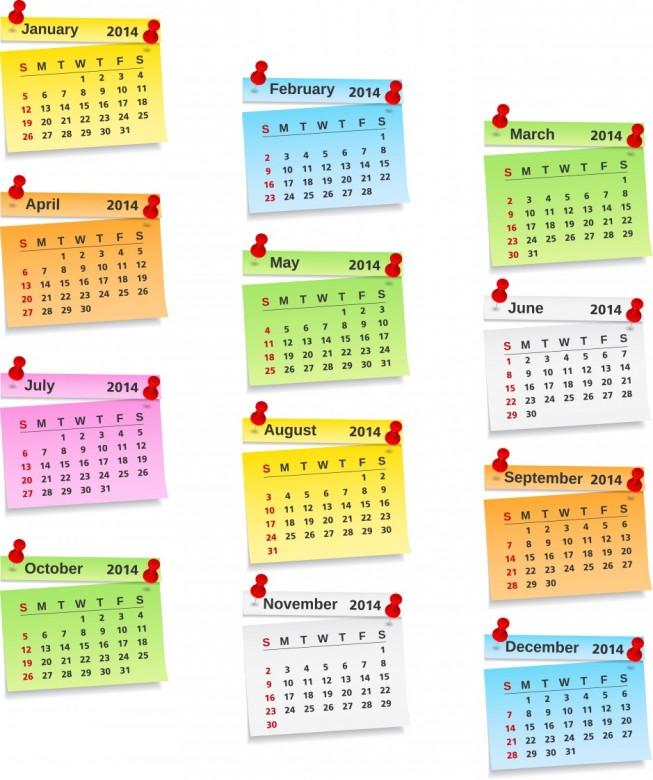 Free Printable 2014 Calendar Amazingly 7