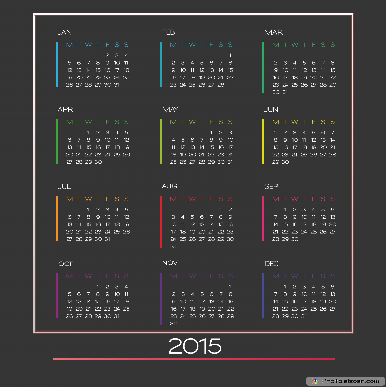 Yearly Calendar 2015 Free Printable – 2017 printable calendar