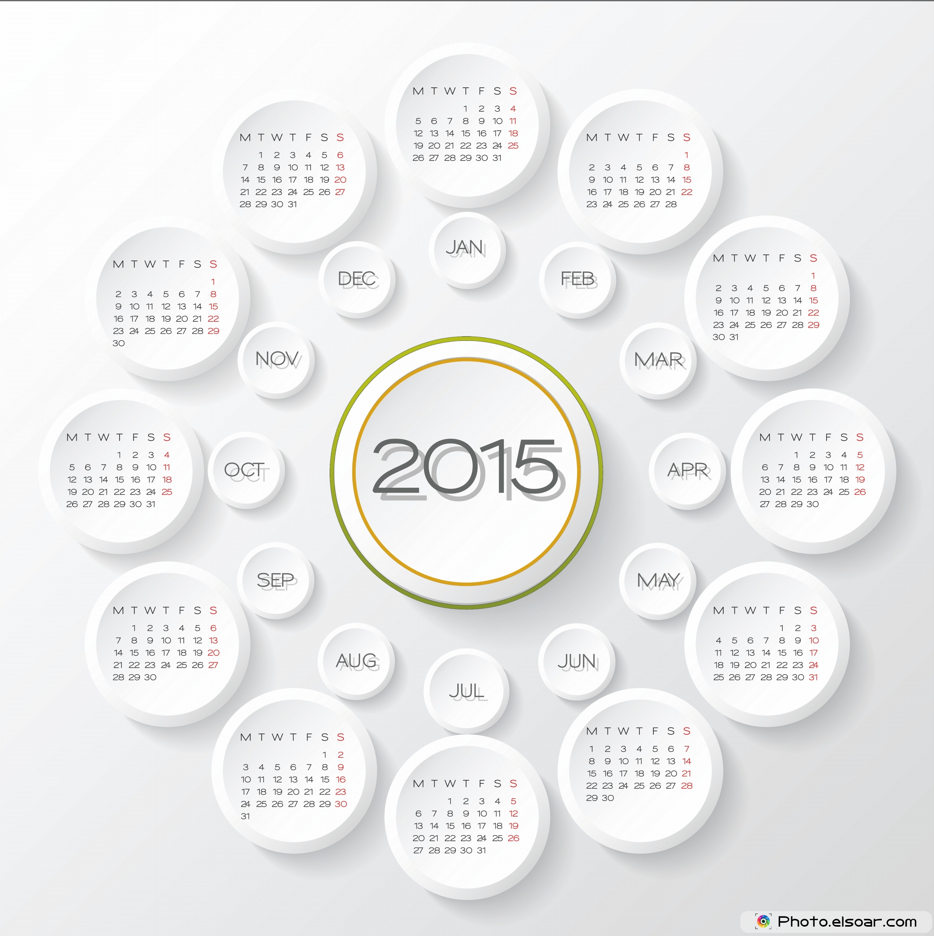 Printable Yearly Calendars For 2015 – Different Ideas • Elsoar