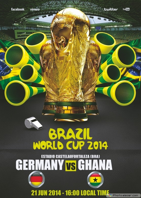 Germany vs Ghana - World Cup 2014 - 21 Jun 2014 - 16:00 Local time - Group G - Estadio Castelao - Fortaleza