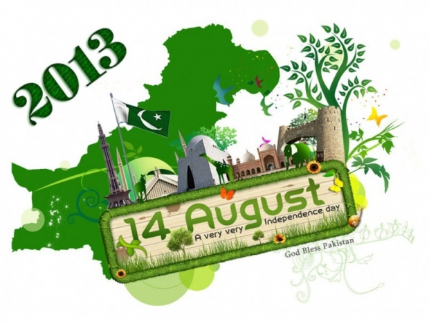 God Bless Pakistan 14 August 2013