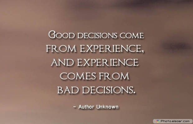 Quotes About Decisions, Quotations