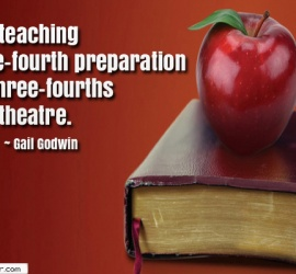 Good teaching is one-fourth preparation