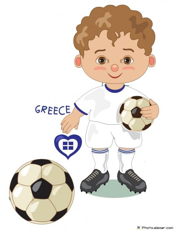 Greece National Jersey, Cartoon Soccer Player
