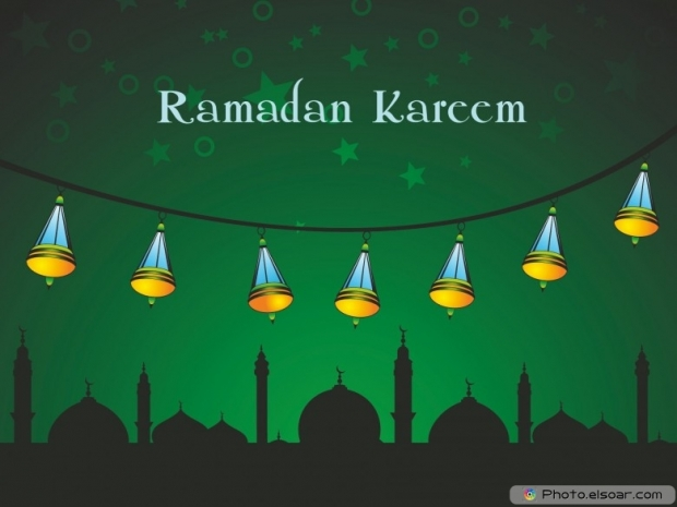 Green wallpaper. ramadan kareem celebration