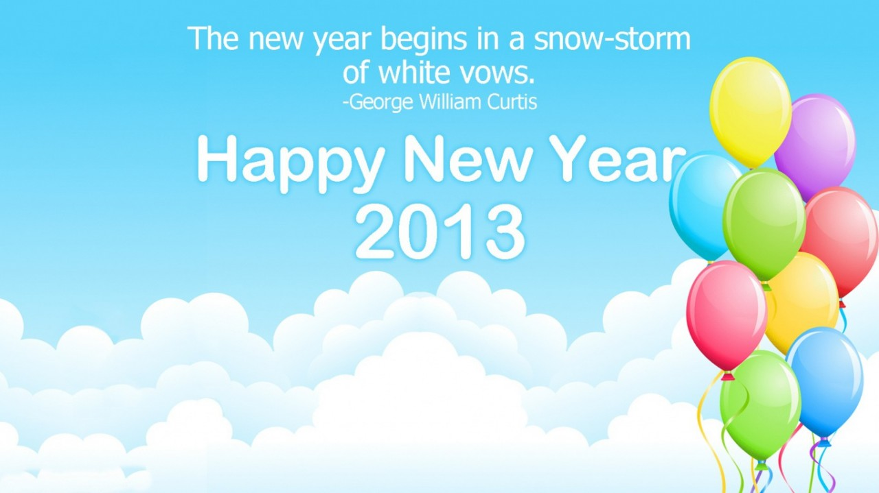 HD Desktop Wallpapers for New Year 2013