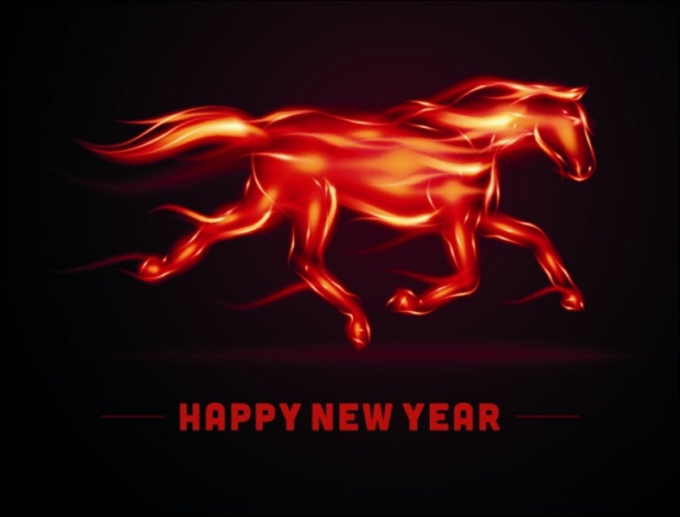 Happy 2014+Fire Horse 2