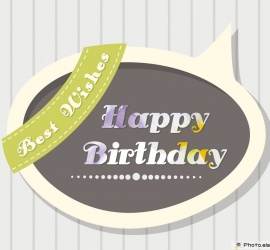 Happy Birthday Greetings and Wishes Card Image