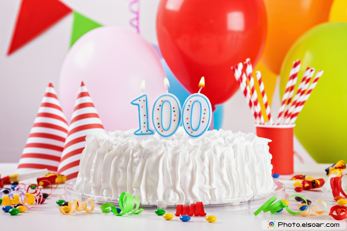 Happy Birthday Wishes For 100 Year Old With Cake