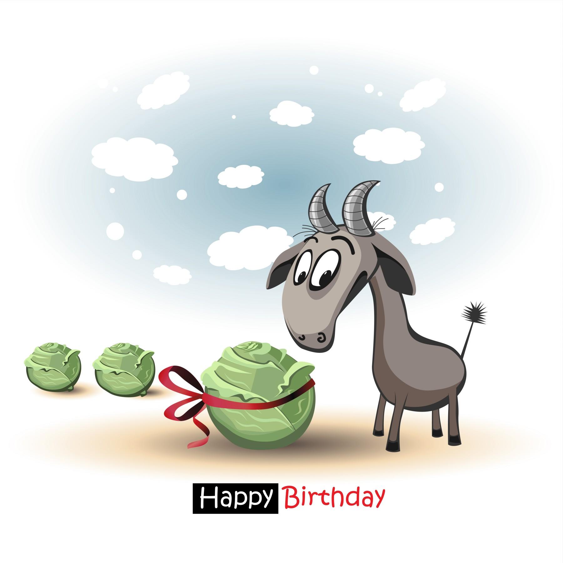 25 Happy Birthday Creative Funny Greeting Cards Elsoar – Goat Birthday Card