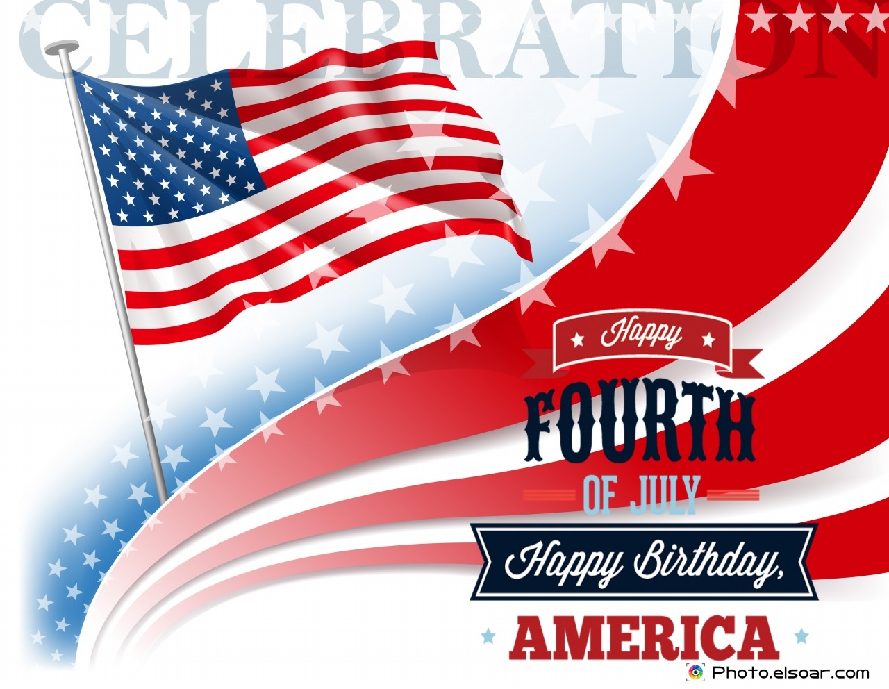 Happy Fourth Of July Birthday America