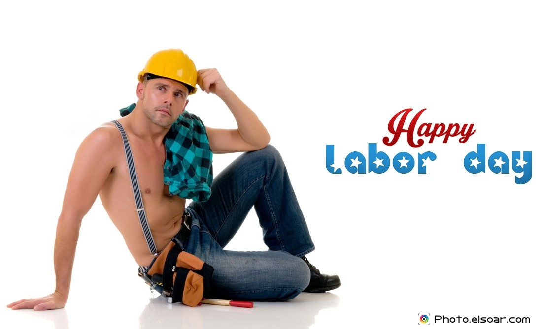 Happy Labor Day With Young Worker