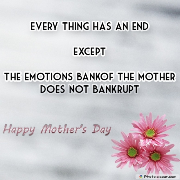 Happy Mothers Day Card Unique Saying. Not bankrupt