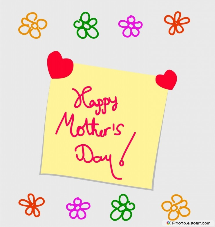 Happy Mother's Day Drawing in Note