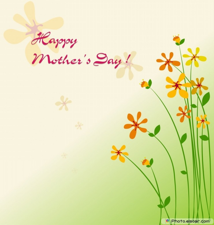 Happy Mother's Day With Yellow Flowers