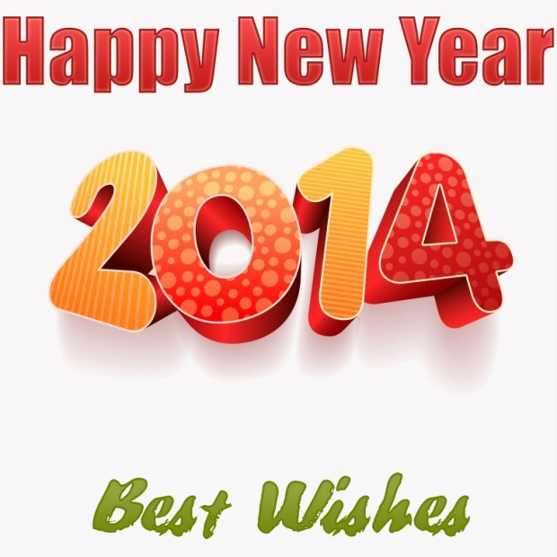 Happy New Year 2014 Wishes Wallpaper 1