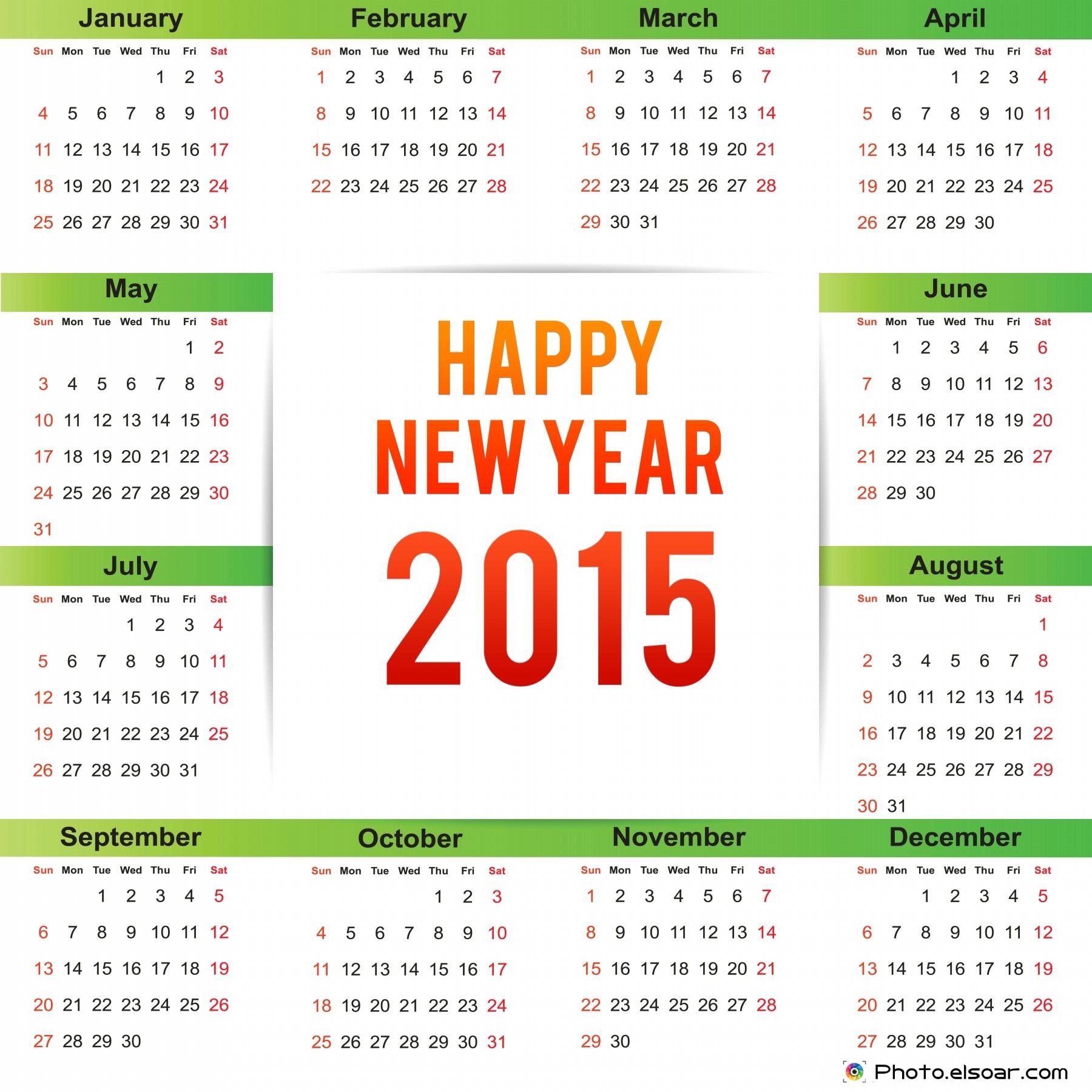 Happy New Year Calendar : New year calendars clip art elsoar
