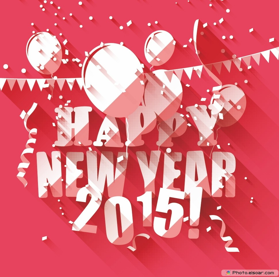 Wallpaper download new year 2015 - Happy New Year 2015 Celebrations Pink Wallpaper