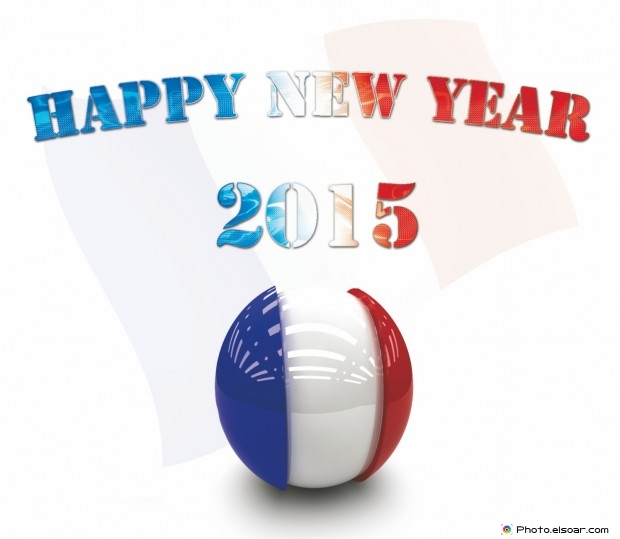 Happy New Year 2015 France - Bonne année!