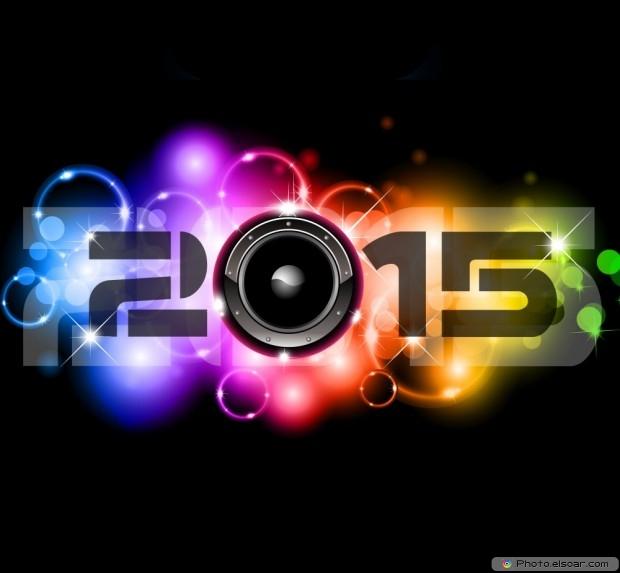 Happy New Year 2015 Hot Shiny Design