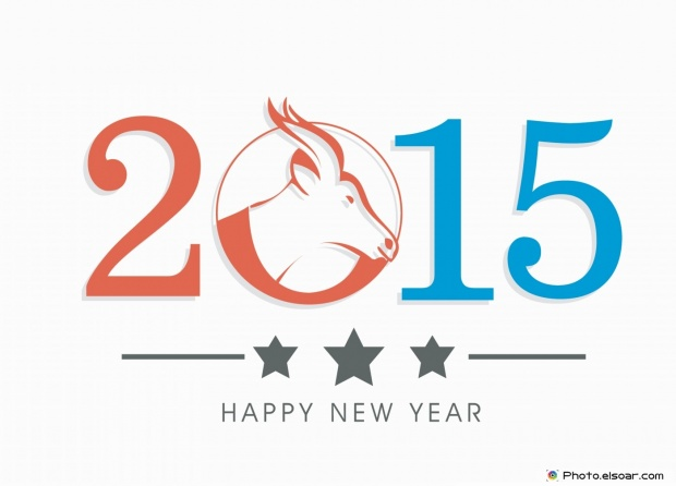 Happy New Year 2015 - Image Of The Head Of The Goat