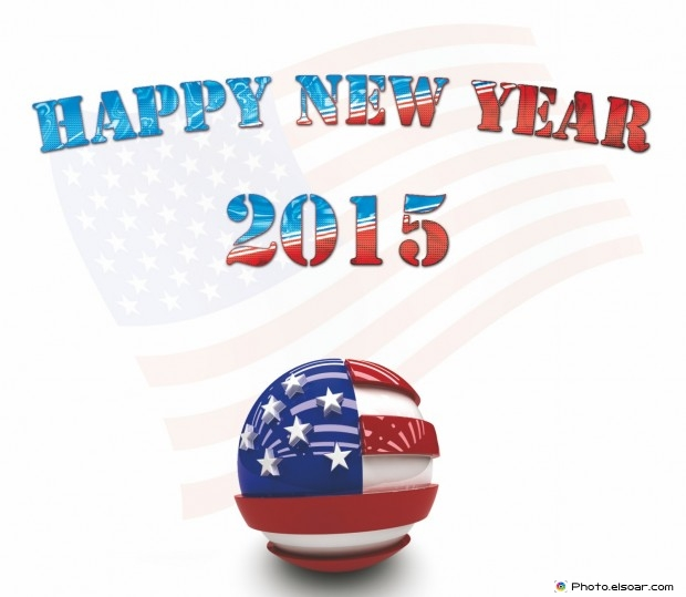 Happy New Year 2015 USA (The United States of America)