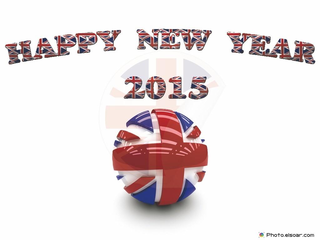 Happy New Year 2015 United kingdom - blwyddyn newydd dda